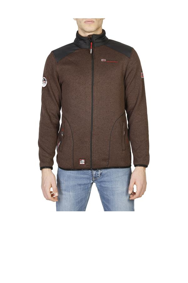 Felpa uomo Geographical Norway colore marrone
