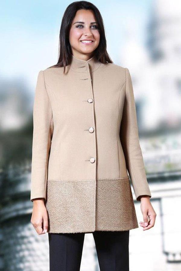 Cappotto Racal donna con 4 bottoni e collo alto